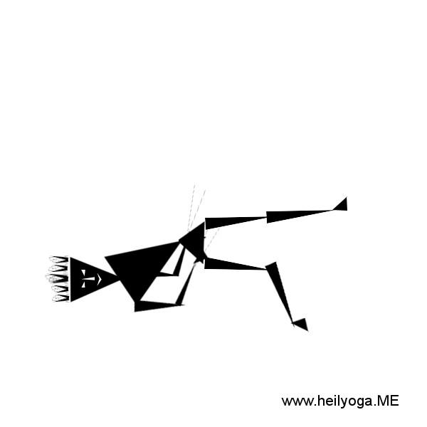 Yoga-Uebung-Schulterbruecke-bein-abgestreckt