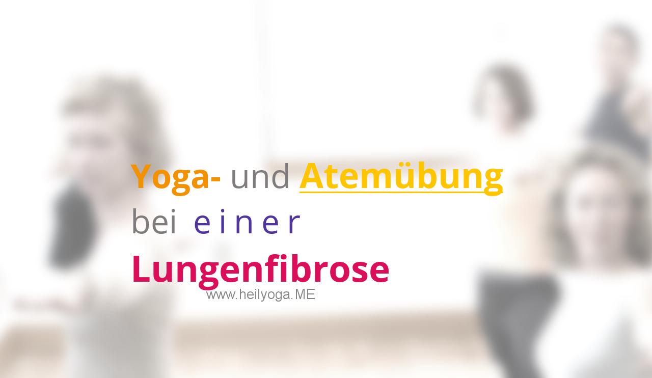 Yoga- und Atemübung bei einer Lungenfibrose