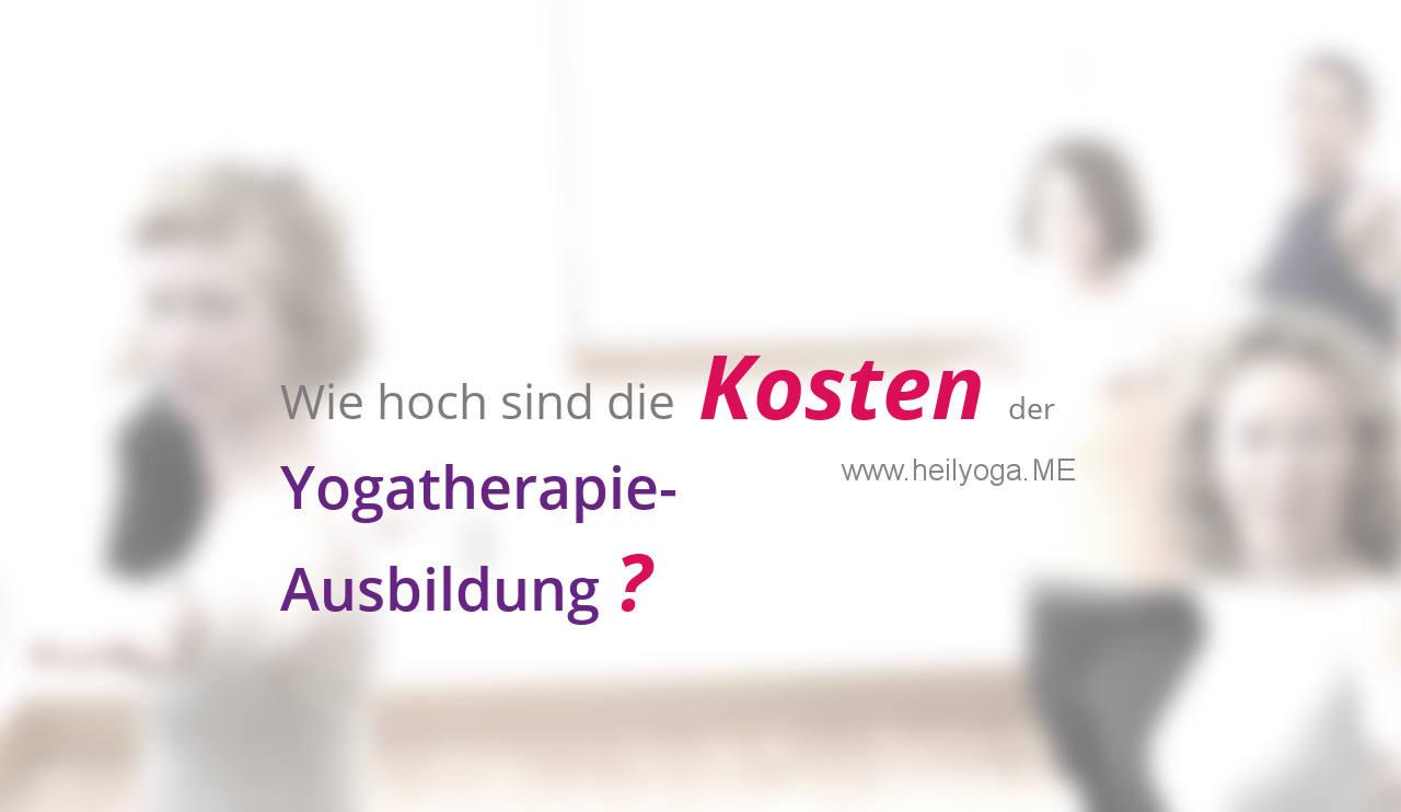 Yogatherapie Ausbildung Kosten