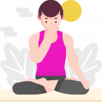 Swara-Yoga-Übung: Pranayama - Wechselatmung