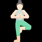 Yoga Asana Baum Vrksasana