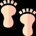Fuß-Abdrücke beobachten