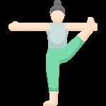 Yoga Asana im Stehen