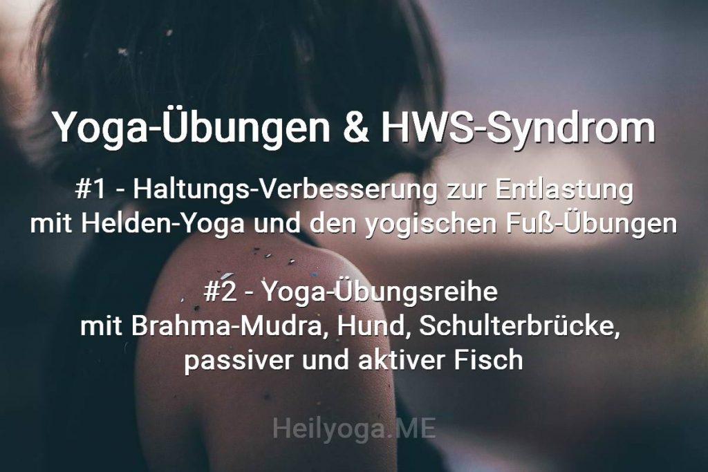 Yoga-Übungen bei Nackenschmerzen und HWS-Syndrom