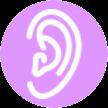 Icon Ohren, Gehör, Balance, Gleichgewicht