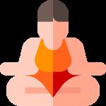 fröhlicher Yogi beim Meditieren