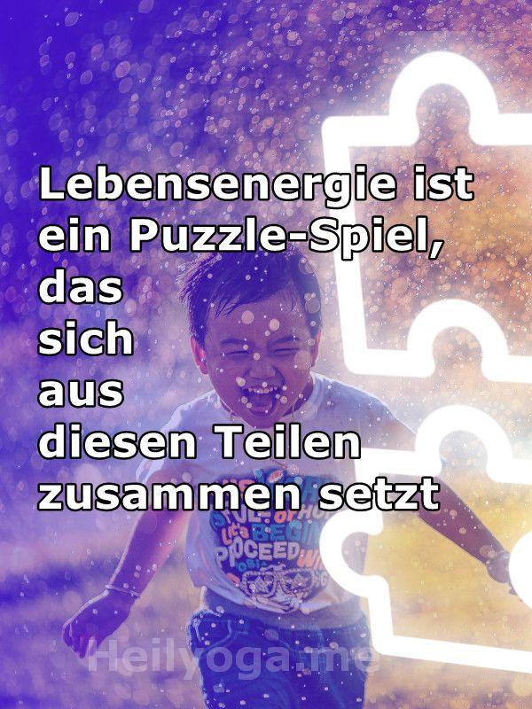 Lebensenergie ist ein Puzzlespiel