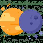 Sonne und Mond sind harmonisch verbunden