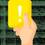 Regelverletzung - Gelbe Karte zeigen
