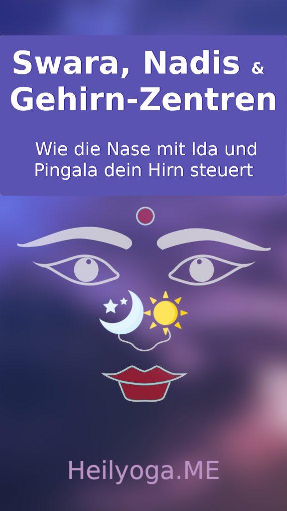 Wie Swara-Yoga, Nadis,Ida und Pingala Gehirn-Zentren steuern