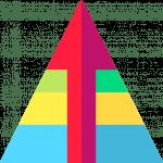 Pyramide mit Ebenen