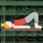 Yoga-Übung Schulterbrücke Asama Setu Bandha Sarvangasana